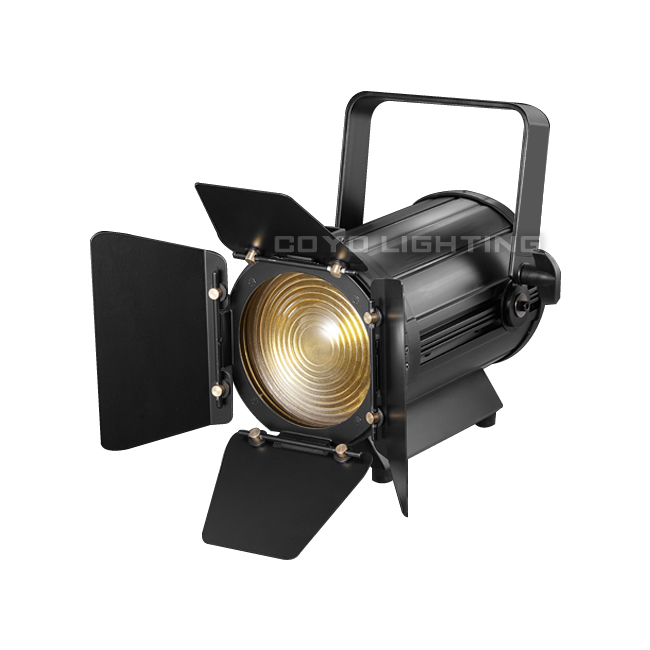 Small Fresnel Light LED 100W WW CW Zoom