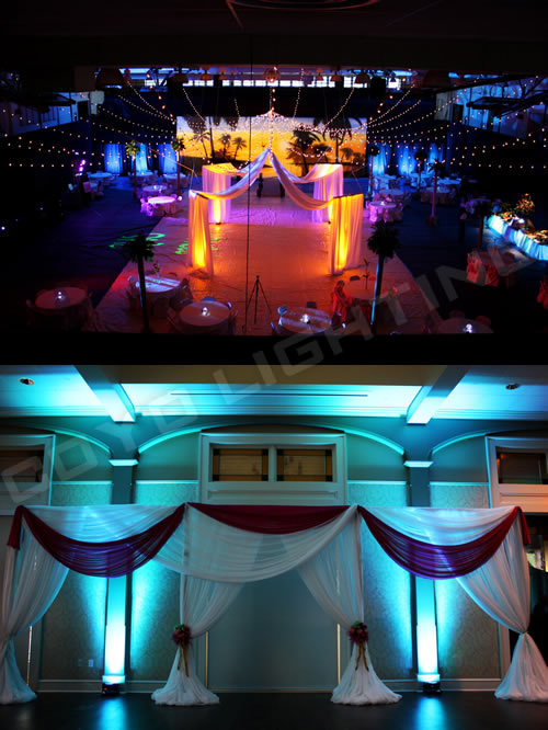 led uplighting for concert events