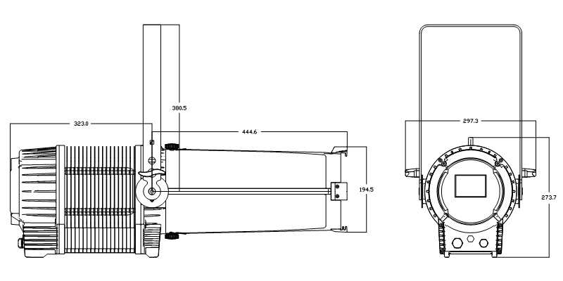 CSL-P300IP65 Fixture Dimension