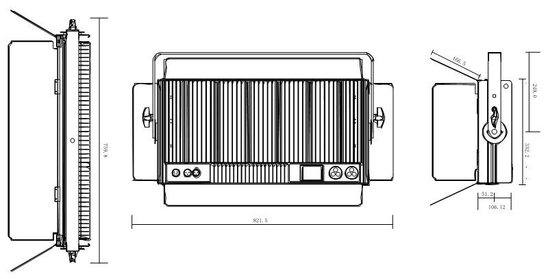 CSL-VP300 Fixture Dimension