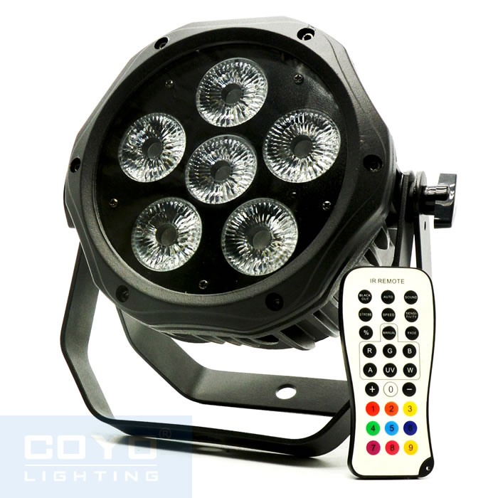 IP65 Wireless Battery Powered LED PAR Can 6x15W WB-R6
