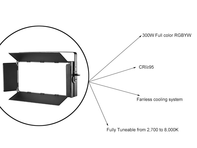 LED Soft Panel Light for Film TV Broadcast CSL-VP300 RGBYW