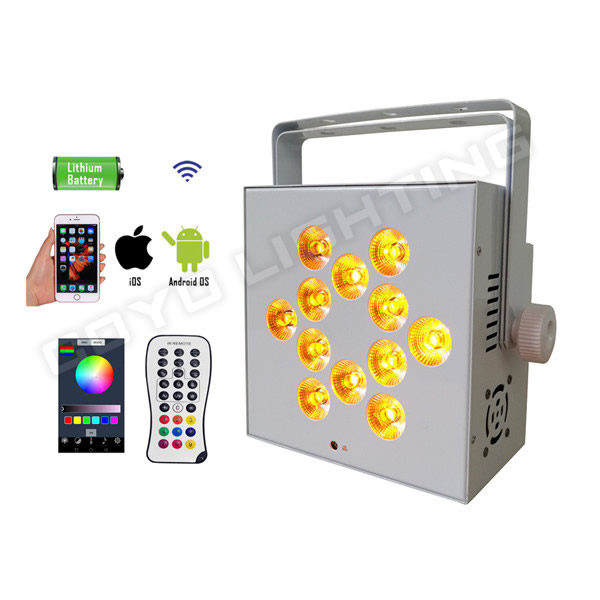Wireless Battery Uplight LED 12x15W RGBWAUV 6in1 for Event Wedding