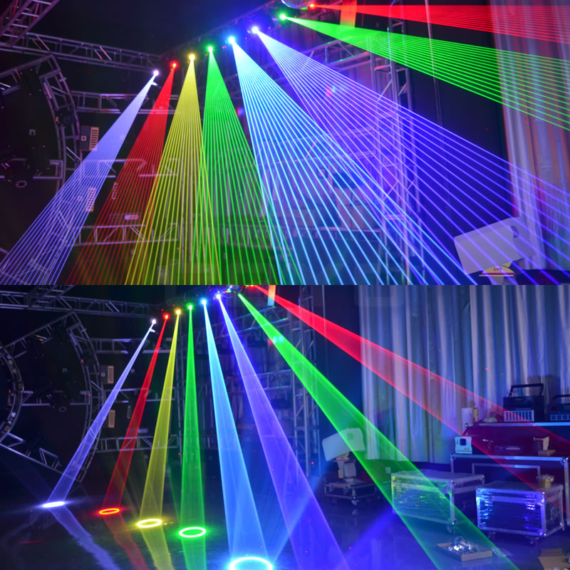 3D Animation Laser Moving Head Lighting