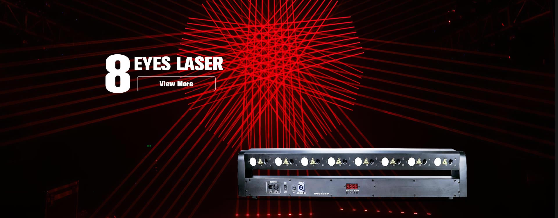 8 Eyes Red Laser LED Beam Light