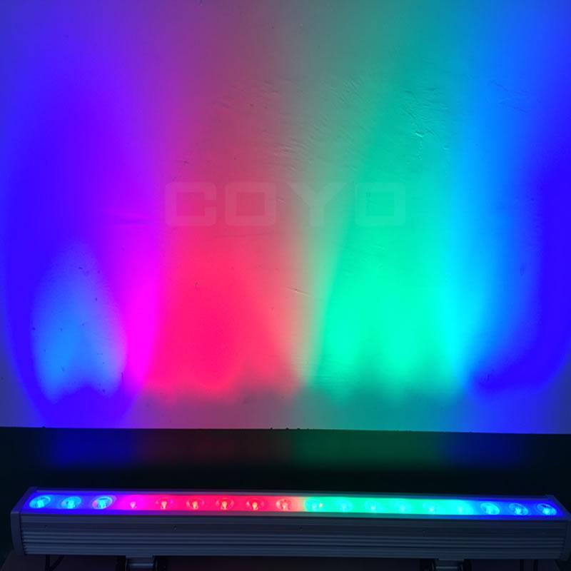 LED Pixel Bar DMX Lighting 18x3W RGB