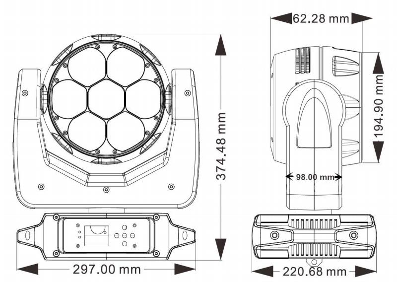 MHS0740 Fixture Dimension