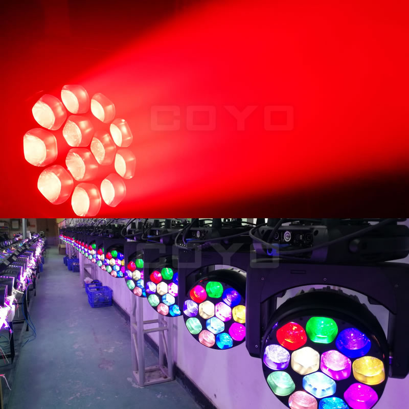 12x40W LED Zoom Wash Moving Head Lighting