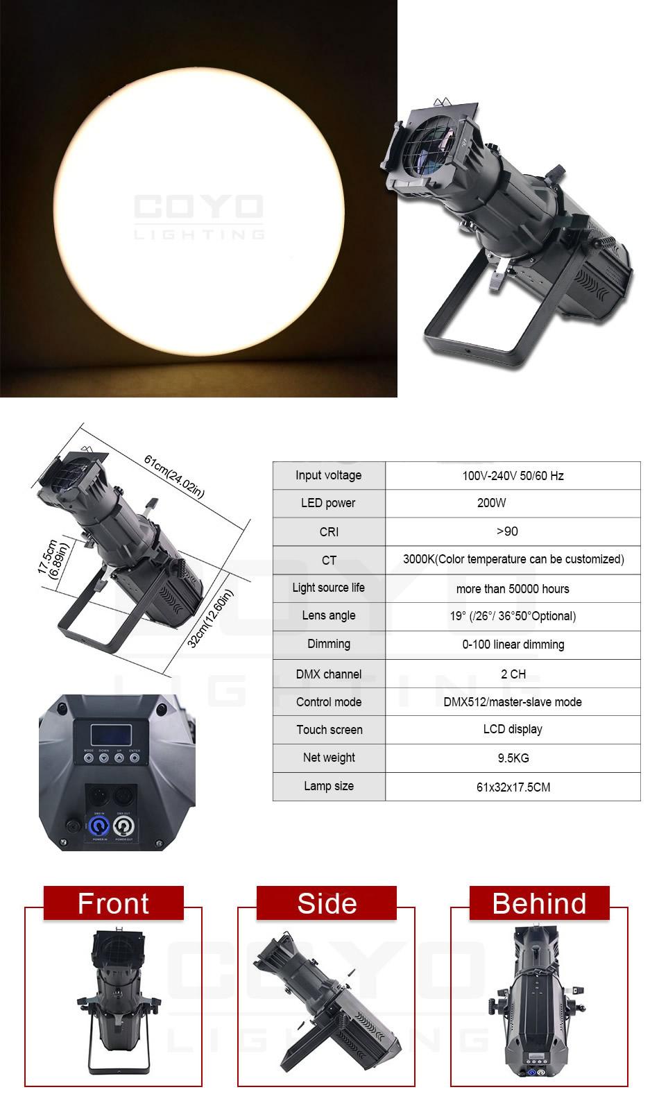 LED Ellipsoidal Stage Lighting